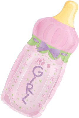 Anagram It's A Girl Baby Bottle Supershape