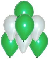 LIGHTERHOUSE Solid FK-608 Balloon (Green, White, Pack Of 100)
