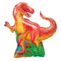 Anagram Dinosaur Party Supershape Printed Balloon - Multicolor, Pack Of 1