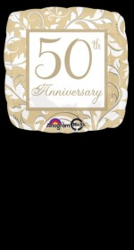 Anagram Gold Elegant Scroll 50th Anniversary 18""
