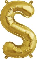 Theme My Party Solid TMPALPHABETS Balloon (Gold, Pack Of 1)