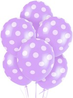 PartyballoonsHK Printed New Lavender Polka Dots ( Pack Of 30) Balloon (Purple, Pack Of 30)