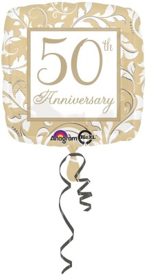 Anagram Gold Elegant 50th Anniversary