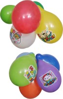 Indigo Creatives Birthday Party Logo Printed Balloon (Multicolor, Pack Of 10)