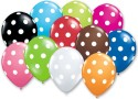 Party Anthem Polka Dotted Latex Printed Balloon - Multicolor, Pack Of 5