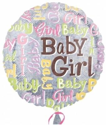 "Anagram Baby Girl Sparkles 18"""