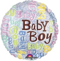 Anagram Baby Boy Sparkles Printed Balloon (Multicolor, Pack Of 1)