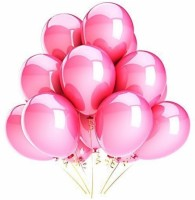 PartyballoonsHK Solid Metallic Pink ( Pack Of 50) Balloon (Pink, Pack Of 50)