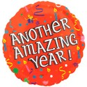 Anagram Amazing Year Birthday Printed Balloon - Multicolor, Pack Of 1