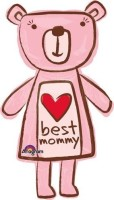 Anagram Best Mummy Bear Printed Balloon (Multicolor, Pack Of 1)