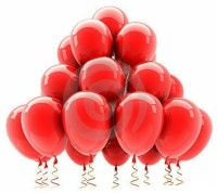 PartyballoonsHK Solid Metallic Red (Pack Of 50) Balloon (Red, Pack Of 50)