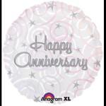 """Anagram Happy Anniversary Swirls 18"""""""