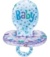 Anagram Boy Baby Pacifier Printed Balloon (Multicolor, Pack Of 1)
