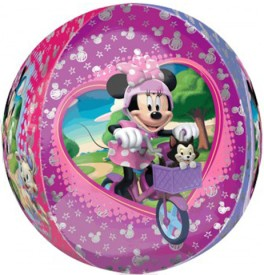Anagram Minnie Mouse Orbz Printed Balloon - Multicolor, Pack Of 1