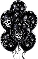 Shopaholic Printed Balloon (Black, White, Pack Of 60)