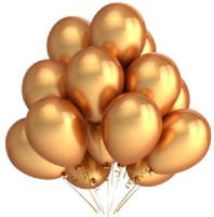 Awesomedaysin Golden Balloons Solid Balloon (Gold, Pack Of 50)