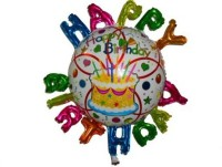 Funcart Happy Birthday Letters Foil Printed Balloon (Multicolor, Pack Of 1)