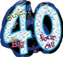 Anagram Oh No! It's My Birthday 40  Supershape Printed Balloon - Multicolor, Pack Of 1