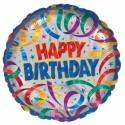 Anagram Party Streamers Birthday 18 Inch Printed Balloon - Multicolor, Pack Of 1