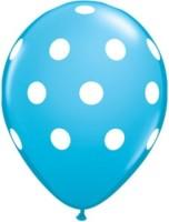 Celebration Ideas Polka Dot Balloons Printed Balloon (Blue, Pack Of 5)
