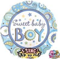 Anagram Sweet Baby Boy Printed Balloon (Multicolor, Pack Of 1)