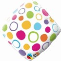 Fusion Balloons Polka Dots Accent Patterns (18 Inch) Printed Balloon - Multicolor, Pack Of 1