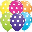 Cuboid Multicolor Polka Dots Solid Balloon - Multicolor, Pack Of 50