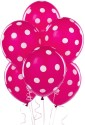 Themez Only Polka Dots Printed Balloon - Pink, White, Pack Of 25