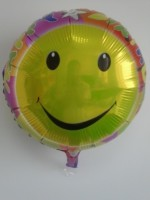 Funcart Smiley Face Happy Birthday Round Foil Printed Balloon (Multicolor, Pack Of 1)