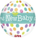 Anagram New Baby Orbz Printed Balloon - Multicolor, Pack Of 1