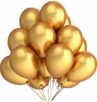 PartyballoonsHK Solid Metallic Gold Balloon (Gold, Pack Of 50)