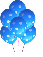 GrandShop Polka Dot Extra Large Printed Balloon (Blue, Pack Of 25)