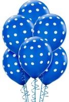 PartyballoonsHK Printed Royal Blue Polka Dot ( Pack Of 30) Balloon (Blue, Pack Of 30)