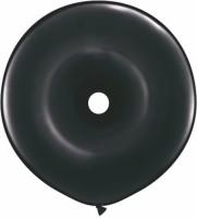 Qualatex 16'' Geo Donut Onaxy Black Solid Balloon (Black, Pack Of 1)