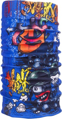 Splash Noise Headwrap Noise 13 In 1 Skull Splash Blue Men's Printed Bandana