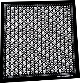 Fancy Steps Skulls And Bone Men's Graphic Print Bandana