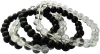 Beadworks Dual Tone Beaded Stretchable Glass Bracelet Set Pack Of 4