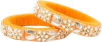 Newsantosh Gota Dori Orange Colour Pattla 2 Silk Dori Bangle Set Pack Of 2
