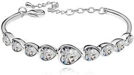 Womanwa Alloy Crystal White Gold Bracelet