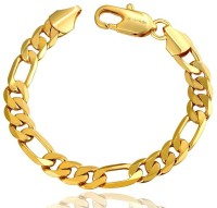 Aaishwarya Bold In Gold Mens Alloy 18K Yellow Gold Plated Bracelet