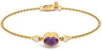 BlueStone The Ultimate Love Yellow Gold 18kt Diamond, Amethyst Bracelet