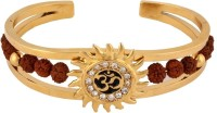 The Jewelbox Rudraksh Om Surya Alloy Yellow Gold Kada