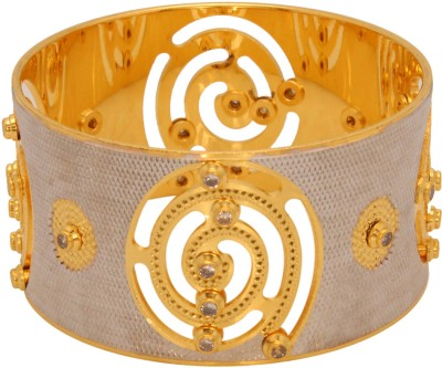 Vendee Fashion Dazzling Brass Bangle