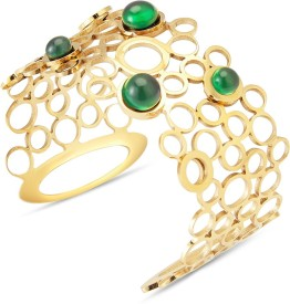 Tvesha Alloy Yellow Gold Cuff