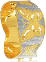 Sukkhi Briliant Dancing Stone Alloy 18K Yellow Gold, Rhodium Plated Bangle
