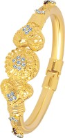VK Jewels Heart Design Alloy 18K Yellow Gold Plated Kada