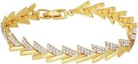 Mahi Alloy Crystal 24K Yellow Gold Bracelet