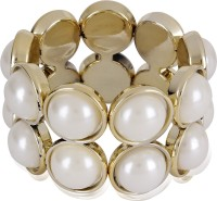 Cinderella Collection By Shining Diva Gold Finished Pearl Alloy Bracelet