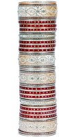 Absolute Shringaar Beautiful Women Bridal Acrylic Rhodium Bangle Set (Pack Of 72)