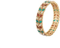 Vama Fashions Alloy Cubic Zirconia Rhodium Bangle Set Pack Of 2 - BBAEDZHYFGHNBBDD